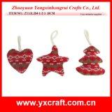 Tela colgante de la llegada de la Navidad de la decoración de la Navidad (ZY13G124-1-2-3 los 22CM)