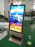 Auto da porta de ar que está o jogador dobro do anúncio do LCD do lado