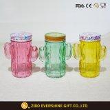 Vaso di muratore di vetro di figura del cactus Set3