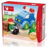 Pädagogischer Polizeiwagen des Spielzeug-DIY blockt Spielzeug