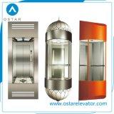 Cabina de visita turístico de excursión lujosa del elevador del pasajero con las paredes de cristal (OS41)