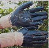 綿のNatrileによって塗られる労働の保護安全作業手袋(N6034)
