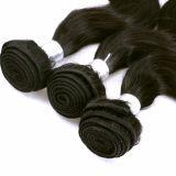 100%の人間の毛髪の毛のWeft Remyの毛の拡張
