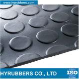 Feuilles en caoutchouc Checkered à nervures d'anti de glissade bouton rond imperméable à l'eau de diamant