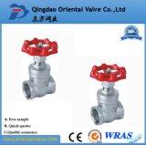 O dobro flangeou válvula de porta industrial do aço de molde com preço agradável