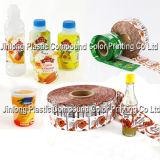 Étiquettes de chemise de rétrécissement pour des bouteilles, roulis de film en plastique de PVC, enveloppe de rétrécissement