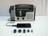 Solar Dynamo Emergency Radio W / LED Lights Charger Crank
