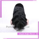 Glueless natürlicher Haarstrichchlorid-Knoten-volle vordere Spitze-Perücken