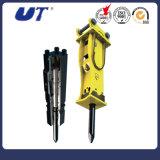 Leiser seitlicher Spitzentyp Exkavator-hydraulische Auswirkung, die Hammer bricht