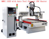 4 * 8FT Woodworking CNC Router com Automatic Tool Changer