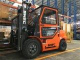 Chariot élévateur de mât du moteur diesel 3m d'Isuzu de chaufferette à C.A. de cabine