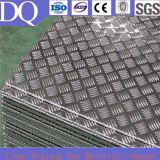 1050, 3003, 3105 zolla Checkered di alluminio impressa cinque barre