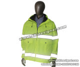 Revestimento protetor do Parka do trabalho do inverno da segurança reflexiva elevada da visibilidade