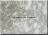 Grande pierre de quartz de brames avec la couleur de marbre pour de contre- dessus, dessus de vanité