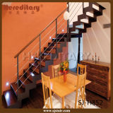 Escadaria de madeira de aço dos trilhos do Baluster da barra para interno (SJ-3019)