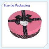Горячая коробка упаковки подарка круглой формы складывая бумажная