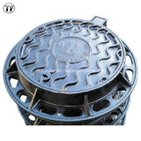 Ductile resistente Cast Iron Machined Manhole Covers com Rubber Gasket