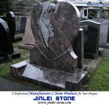 Резные натурального гранита Каменный ангел Надгробие для памятников Надгробия