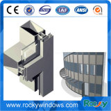 Perfil de alumínio para Windows e a porta/extrusão de alumínio do perfil da parede de cortina