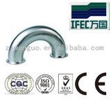 Cotovelo de aço inoxidável sanitário de aço inoxidável de 180 graus (IFEC-SE100001)