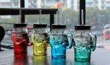 Produtos vidreiros do frasco de vidro do crânio da caneca do vidro bebendo