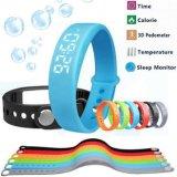 Bracelete esperto do pulso relativo à promoção do contador da caloria do presente