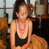 Perlas de cristal hechas a mano de la resina del collar de la moda joyería fija el collar con pendientes