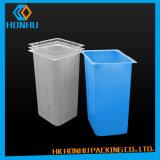 Rectángulo plástico de la galleta del envase de plástico del PVC para el estilo de encargo