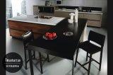 Meubles en bois UV de cuisine de modèle de doublure de la configuration 2017 (ZX-046)