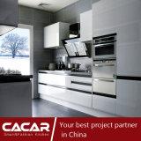 Gabinete de cozinha moderno do verniz do Stoving de Pinao do estilo da impressão de Rhine (CA09-25)