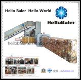 Het In balen verpakken van het Document van Hellobaler Halfautomatische Machine met Transportband