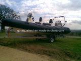 Aqualand 19feet 5.7m Rib Fishing Boat 또는 Inflatable Motor Boat/Rescue Patrol (RIB570B)