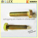 Gelbe verzinkte Hex Schraube und Mutter DIN933/DIN931/DIN934