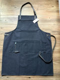 Customized Waxed Canvas Carpenter Apron com guarnição de couro