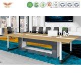 Самомоднейшая таблица встречи офисной мебели деревянная (H90-0305)