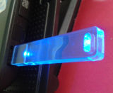 Mecanismo impulsor de acrílico del flash del USB de la luz, palillo transparente de la memoria del USB