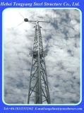 Высокой башня рангоута ванты телекоммуникаций гальванизированная антенной