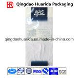 Bolso de ropa plástico transparente impreso modificado para requisitos particulares venta al por mayor con la tapa de la cremallera