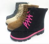 2017 теплых ботинок зимы женщин с шнуруют вверх (ET-CH160271W)