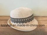 Sombrero hecho punto telar jacquar del sombrero flexible del algodón de las mujeres/de los hombres