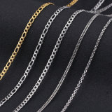 Modo Gold Stainless Steel Fhat Nk Chain per Necklace