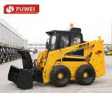 바퀴를 가진 중국 공장 공급 Ws75 1050kg 미끄럼 수송아지 로더