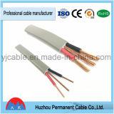 Câble plat isolé par PVC de BVVB+E pour des constructions avec la qualité