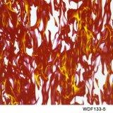 Kingtop 1m Overdracht die van het Water van het Ontwerp van de Schedels en van de Vlam van de Breedte Hydrografische Film wdf143-1 afdrukken
