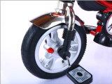 日よけ(OKM-1379)が付いている三輪車を折っている一等級の子供
