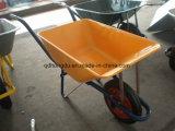 Carretilla de la mano del carro de mano de la plataforma de la carretilla de rueda de la construcción (Wb2500)
