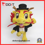 Выполненный на заказ корпоративный талисман нежно игрушка плюша человека дракона