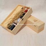 Boîte en bois de vente chaude à vin de pin antique en bois