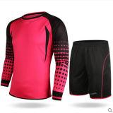 方法デザイン、多彩なフットボールのゴールキーパーの一定のジャージのユニフォームのワイシャツ