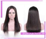 똑바로 브라운 정면 레이스 검정 긴 가발